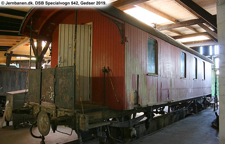 DSB Specialvogn 542<br>Værkstedsvogn for Signaltjenesten