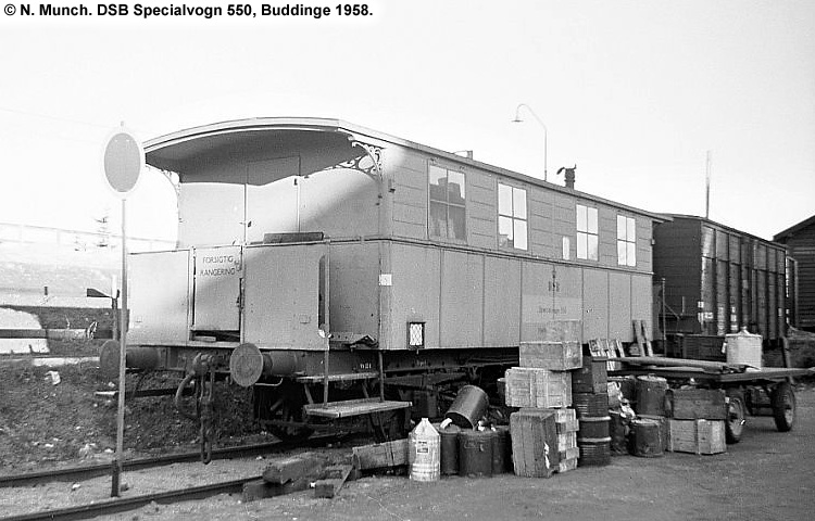 DSB Specialvogn 550<br>Værkstedsvogn for Signaltjenesten