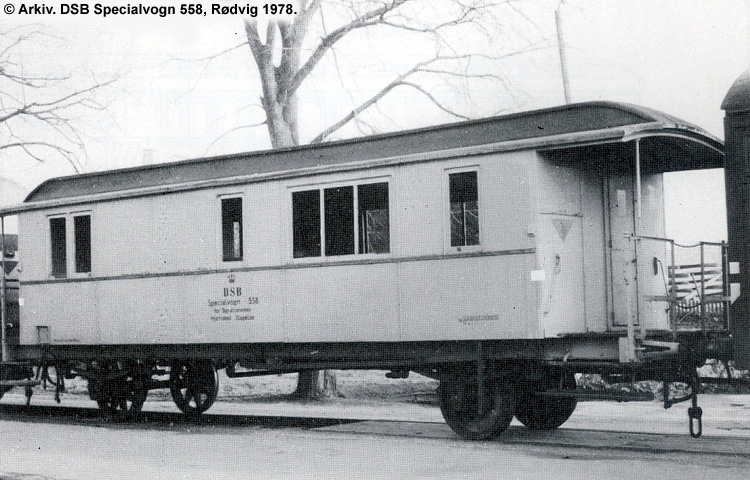 DSB Specialvogn 558<br>Værkstedsvogn for Signaltjenesten