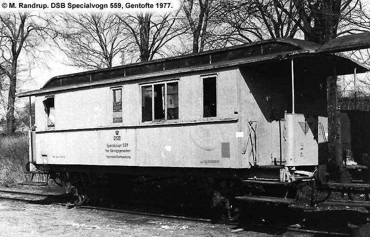 DSB Specialvogn 559<br>Værkstedsvogn for Signaltjenesten