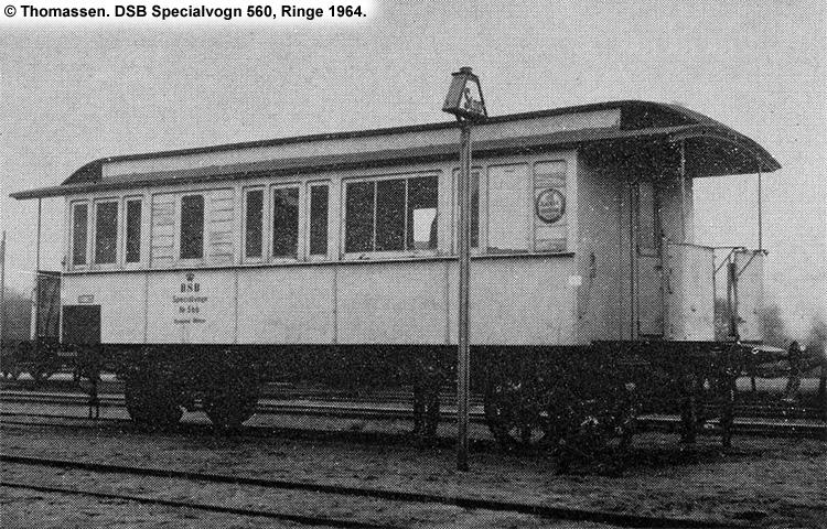 DSB Specialvogn 560<br>Værkstedsvogn for Signaltjenesten