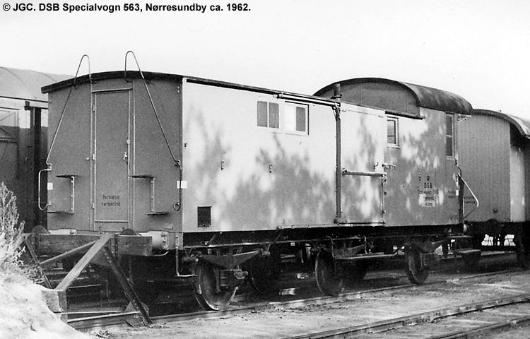 DSB Specialvogn 563<br>Værkstedsvogn for Signaltjenesten