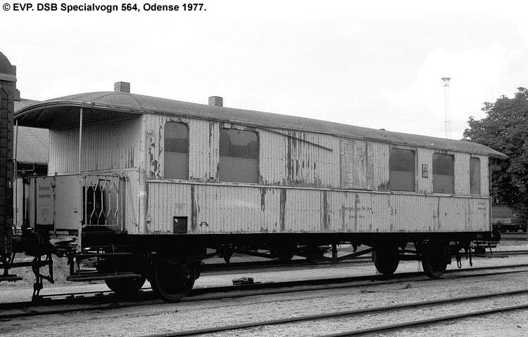 DSB Specialvogn 564<br>Værkstedsvogn for Signaltjenesten