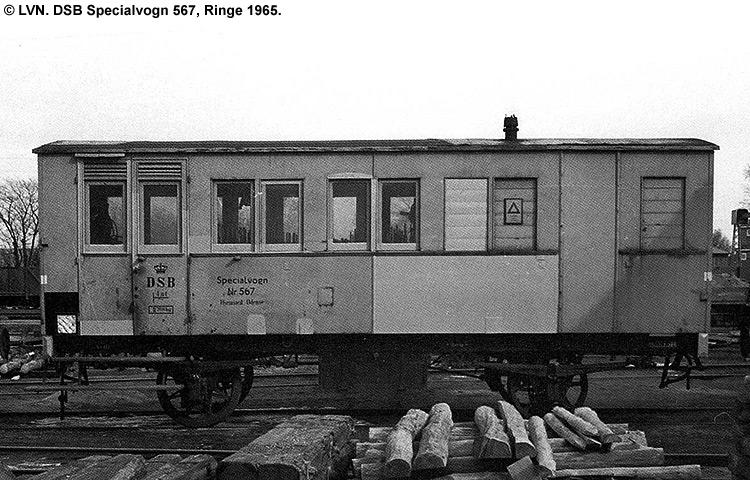 DSB Specialvogn 567<br>Værkstedsvogn for Signaltjenesten