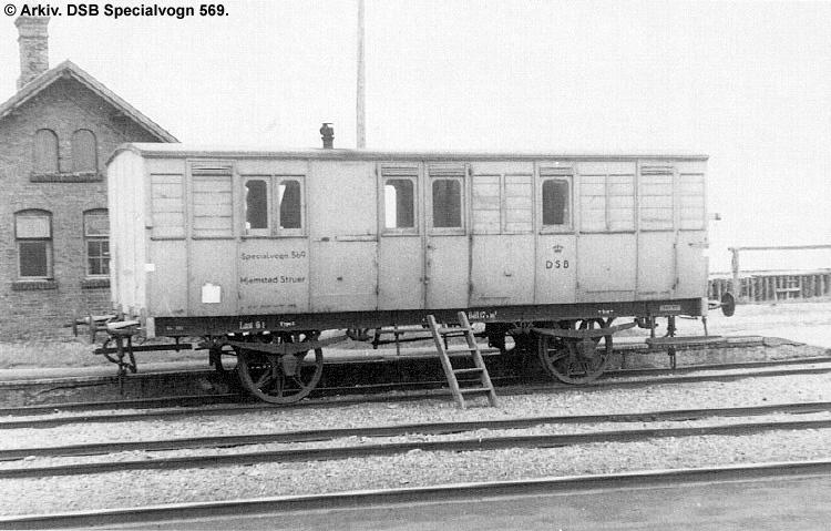 DSB Specialvogn 569<br>Værkstedsvogn for Signaltjenesten