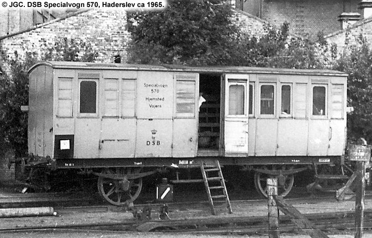 DSB Specialvogn 570<br>Værkstedsvogn for Signaltjenesten