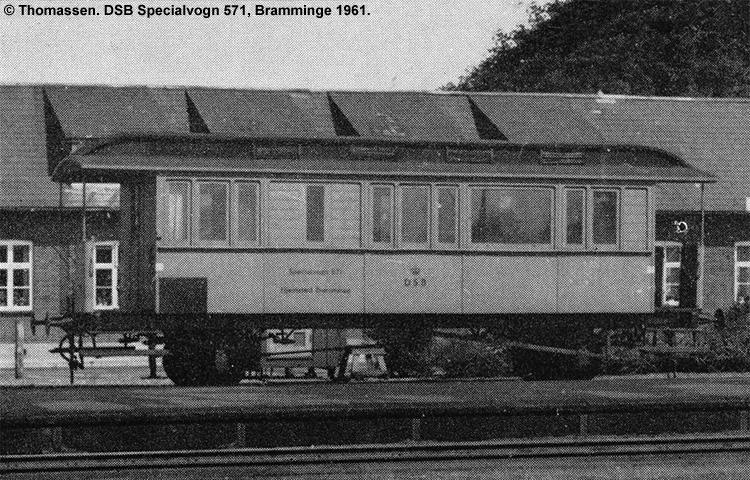 DSB Specialvogn 571<br>Værkstedsvogn for Signaltjenesten