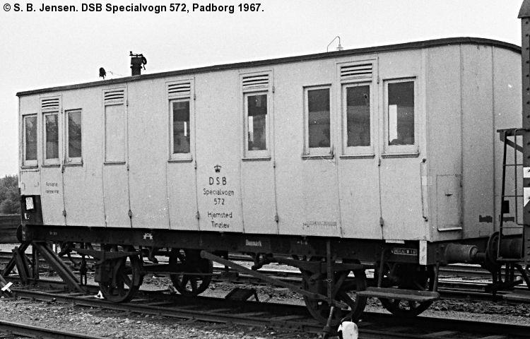 DSB Specialvogn 572<br>Værkstedsvogn for Signaltjenesten