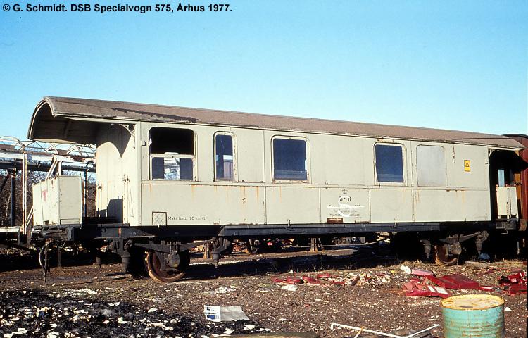 DSB Specialvogn 575<br>Værkstedsvogn for Signaltjenesten