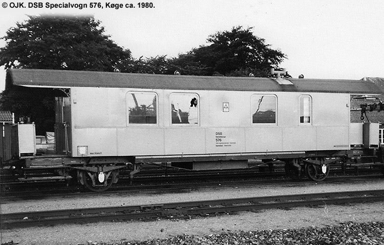 DSB Specialvogn 576<br>Værkstedsvogn for Signaltjenesten