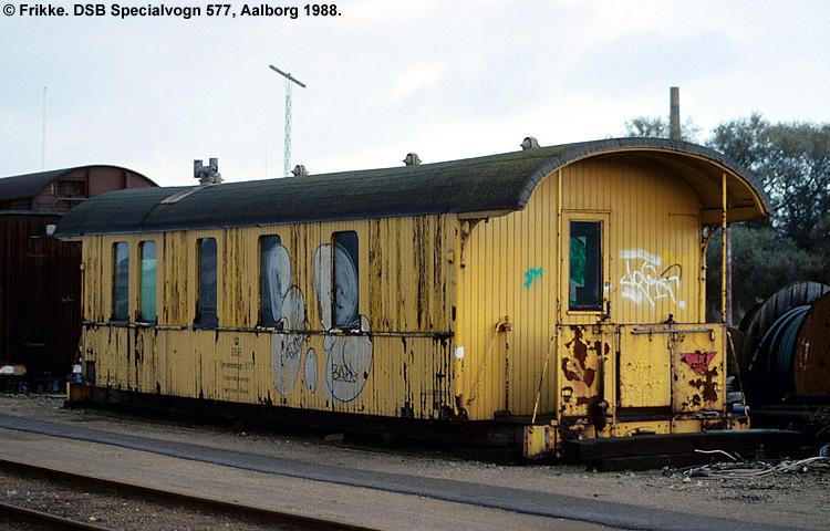 DSB Specialvogn 577<br>Værkstedsvogn for Signaltjenesten