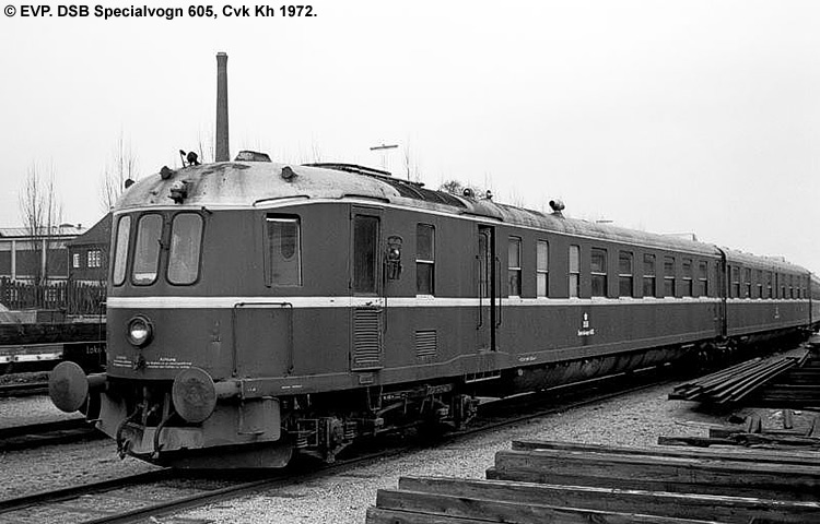 DSB Specialvogn 605<br>Stamme til MO-prøvekørsler