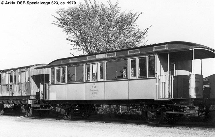 DSB Specialvogn 623<br>Værkstedsvogn for Sikringsanlægskolonne