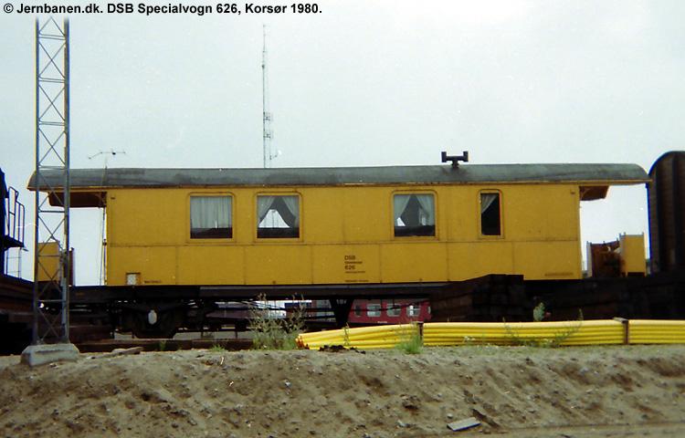 DSB Specialvogn 626<br>Værkstedsvogn for Sikringsanlægskolonne