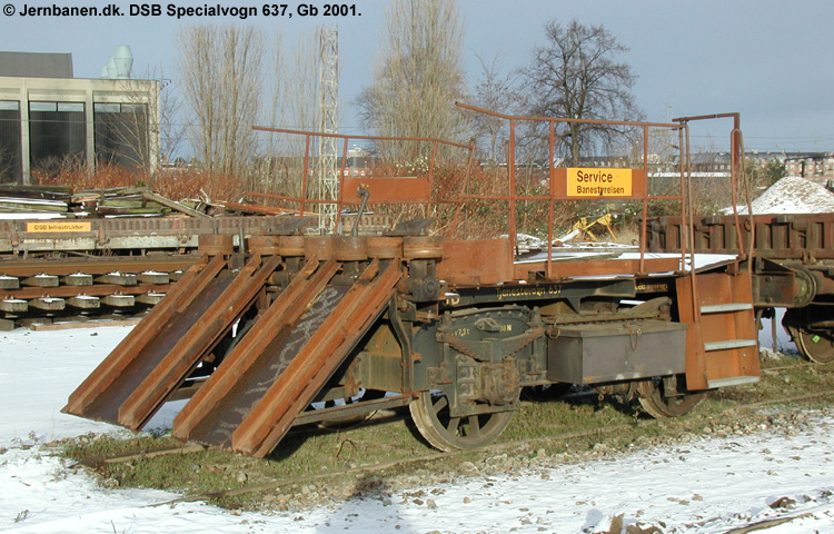 DSB Specialvogn 637<br>Skinneudlægningsvogn