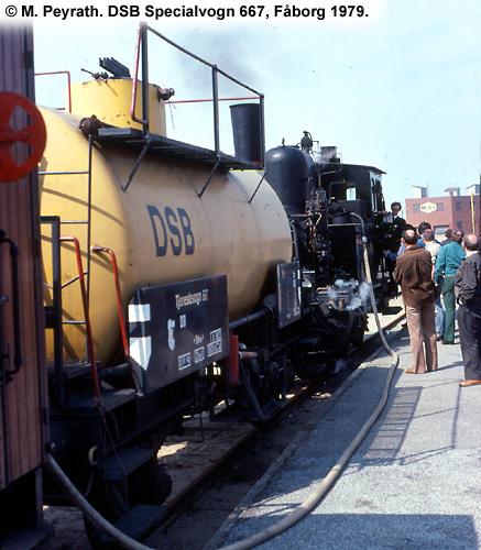 DSB Specialvogn 667<br>Sprøjtevogn