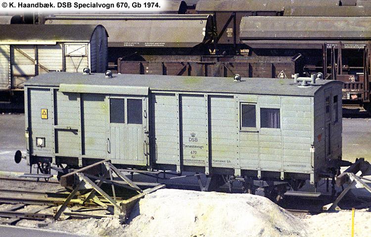 DSB Specialvogn 670<br>Svejsevogn