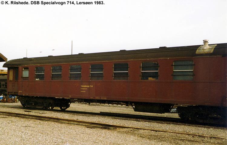 DSB Specialvogn 714<br>Værkstedsvogn for Sporingeniøren