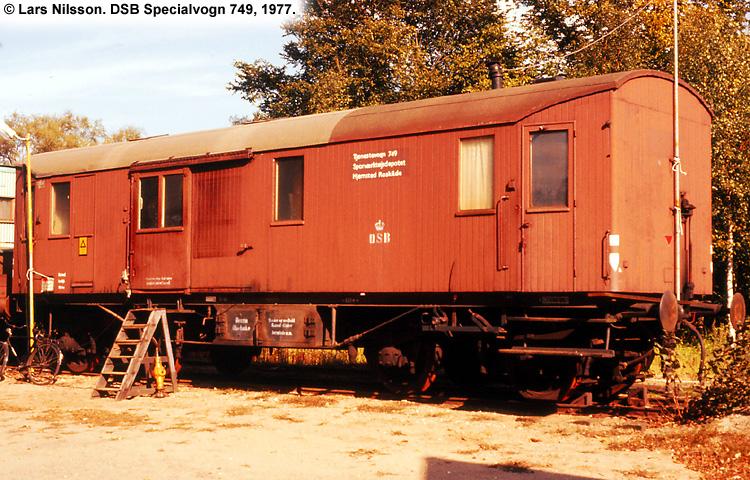 DSB Specialvogn 749<br>Sporværktøjsdepot