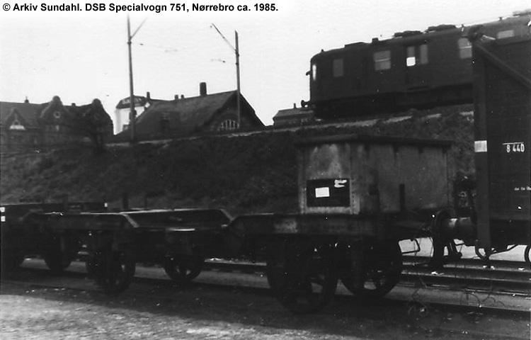 DSB Specialvogn 751<br>Transformatorvogn