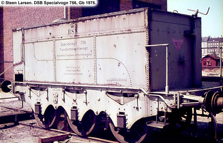 DSB Specialvogn 756<br>Transformatorolievogn
