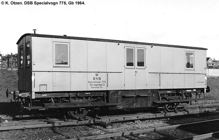 DSB Specialvogn 775<br>Værkstedsvogn for Vognopsynet