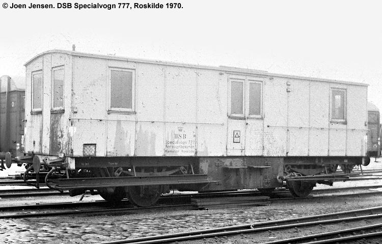 DSB Specialvogn 777<br>Værkstedsvogn for Vognopsynet