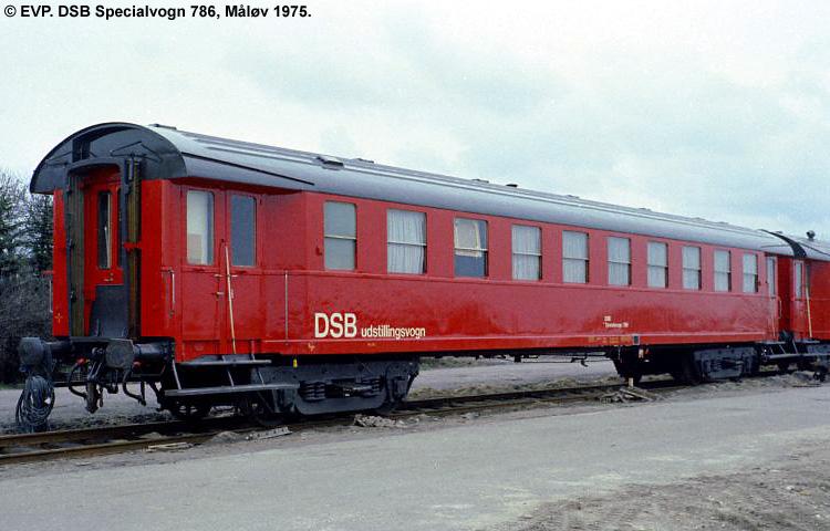 DSB Specialvogn 786<br>Udstillingsvogn