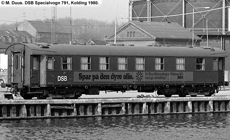 DSB Specialvogn 791<br>Udstillingsvogn