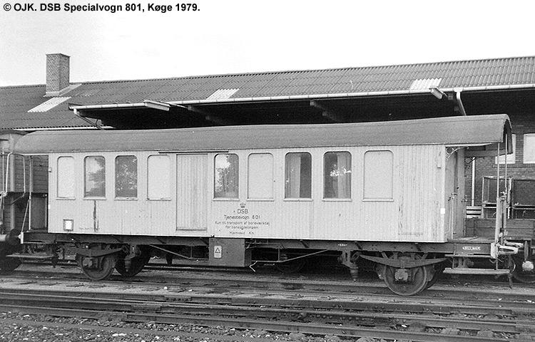 DSB Specialvogn 801<br>Mandskabsvogn for Brokontor 1