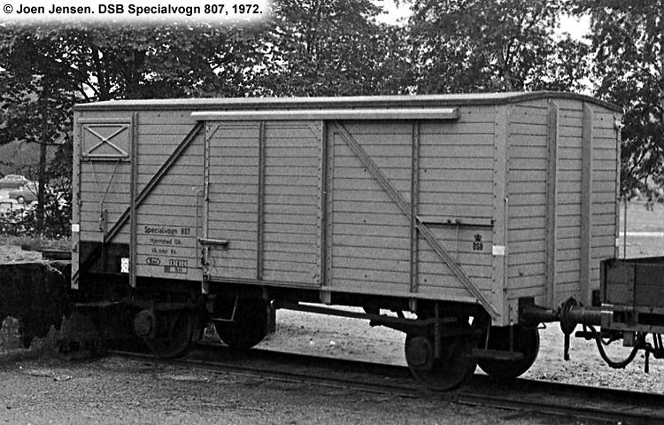 DSB Specialvogn 807<br>Transportvogn for Boreværktøj
