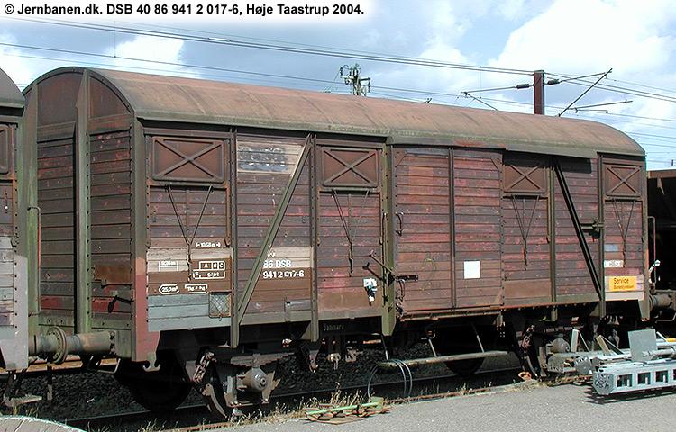 DSB tjenestevogn 40 86 941 2017 - 6