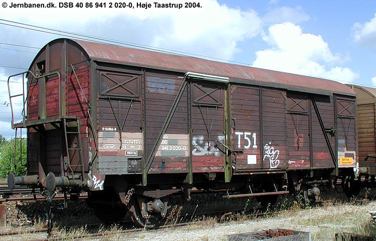 DSB tjenestevogn 40 86 941 2020 - 0