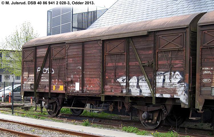 DSB tjenestevogn 40 86 941 2028 - 3