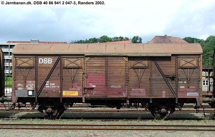 DSB Tjenestevogn 40 86 941 2047 - 3