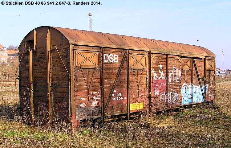DSB tjenestevogn 40 86 941 2047-3