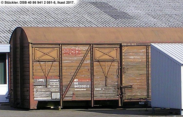 DSB tjenestevogn 40 86 941 2051 - 5