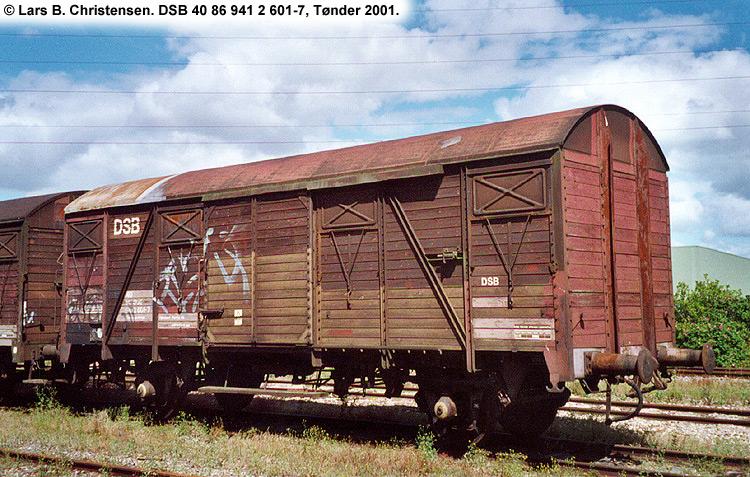 DSB tjenestevogn 40 86 941 2601 - 7