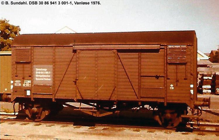 DSB Tjenestevogn 30 86 941 3001 - 1
