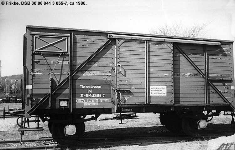 DSB tjenestevogn 30 86 941 3055 - 7