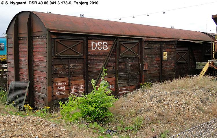 DSB Tjenestevogn 40 86 941 3178 - 5