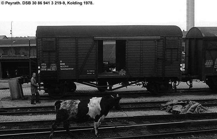 DSB tjenestevogn 30 86 941 3219 - 9