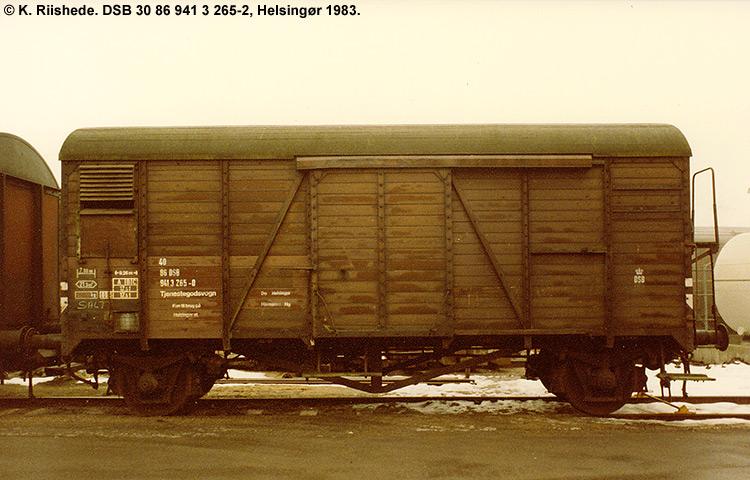 DSB tjenestevogn 30 86 941 3265 - 2