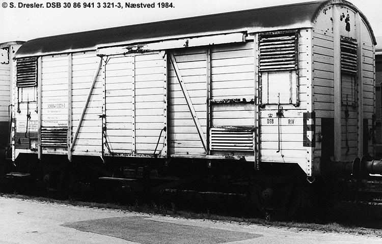 DSB tjenestevogn 30 86 941 3321 - 3