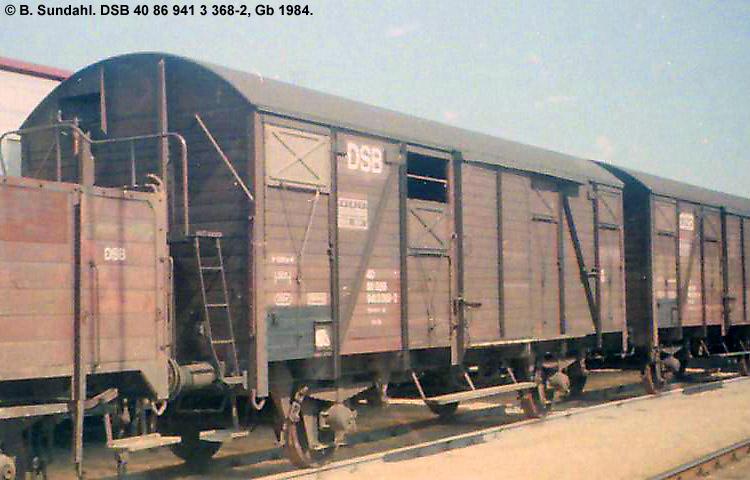 DSB Tjenestevogn 30 86 941 3368 - 4