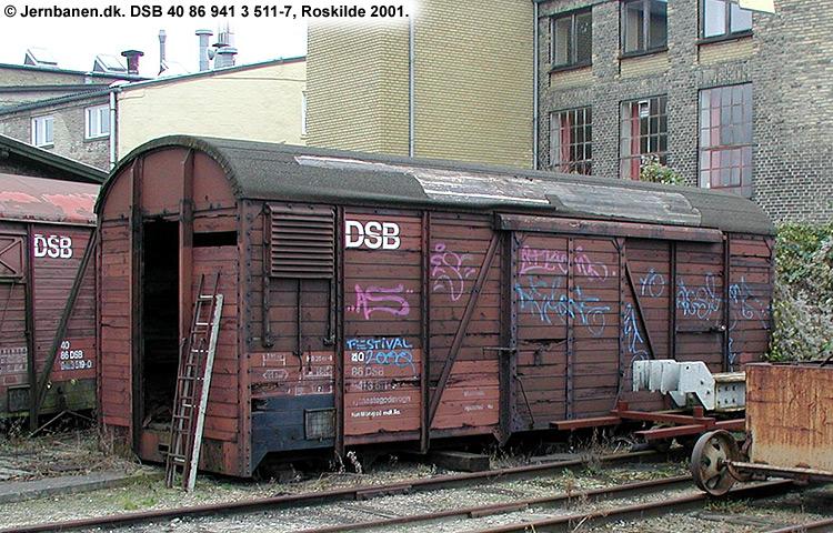 DSB tjenestevogn 30 86 941 3511 - 9
