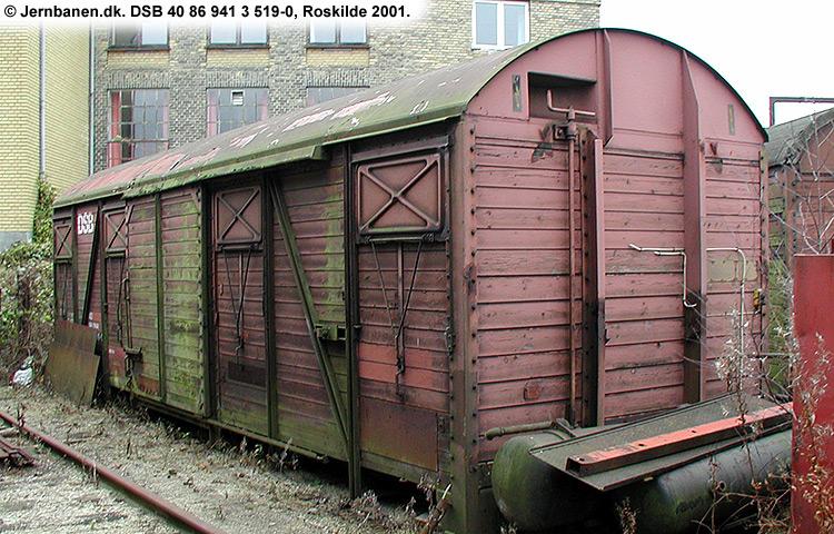 DSB tjenestevogn 30 86 941 3519 - 2