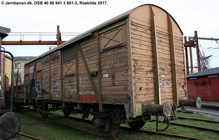 DSB tjenestevogn 40 86 941 3551 - 3