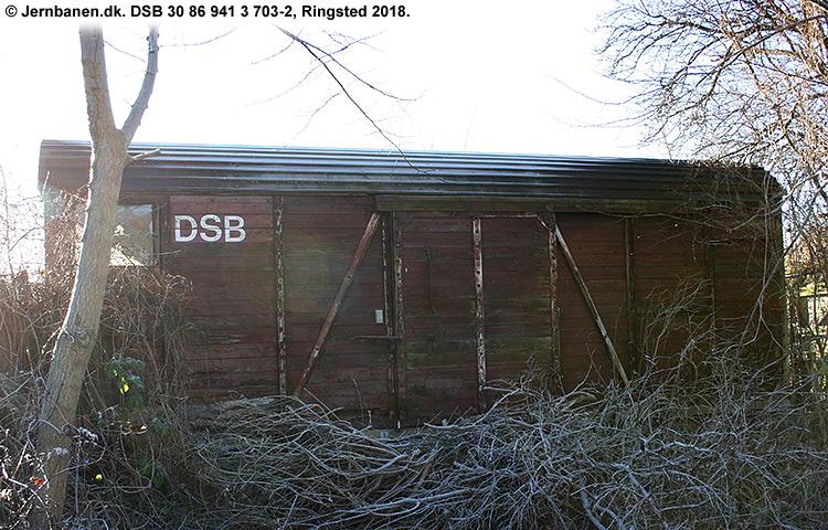 DSB tjenestevogn 30 86 941 3703 - 2