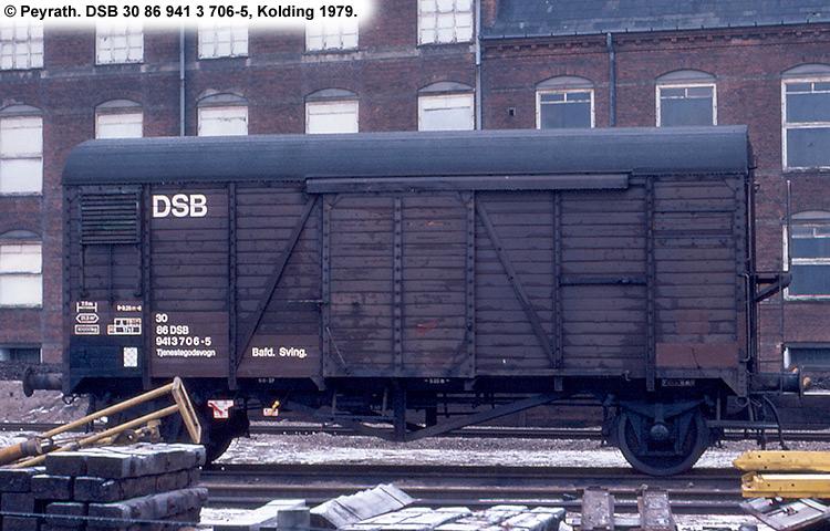 DSB tjenestevogn 30 86 941 3706 - 5
